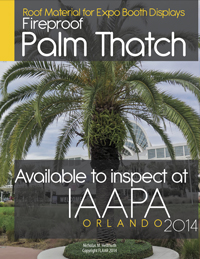 IAAPA 2014 thatch Roof Material for Expo booth displays Nicholas-Hellmuth FLAAR Reports 200